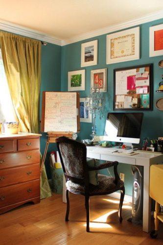 Lem kayu dan lem hpl Crona - id.pinterest.com ruang kerja eklektik e1605287984236