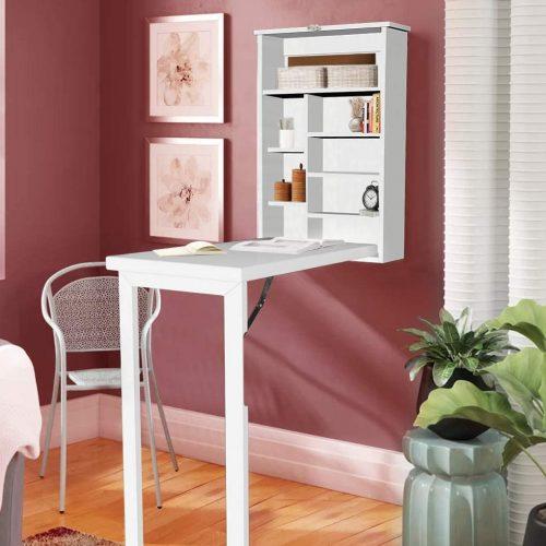 Lem kayu dan lem hpl Crona - storables.com Ustyle Convertible Folding Wall Table e1605544751819